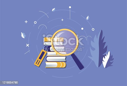 Magnifying glass search for books