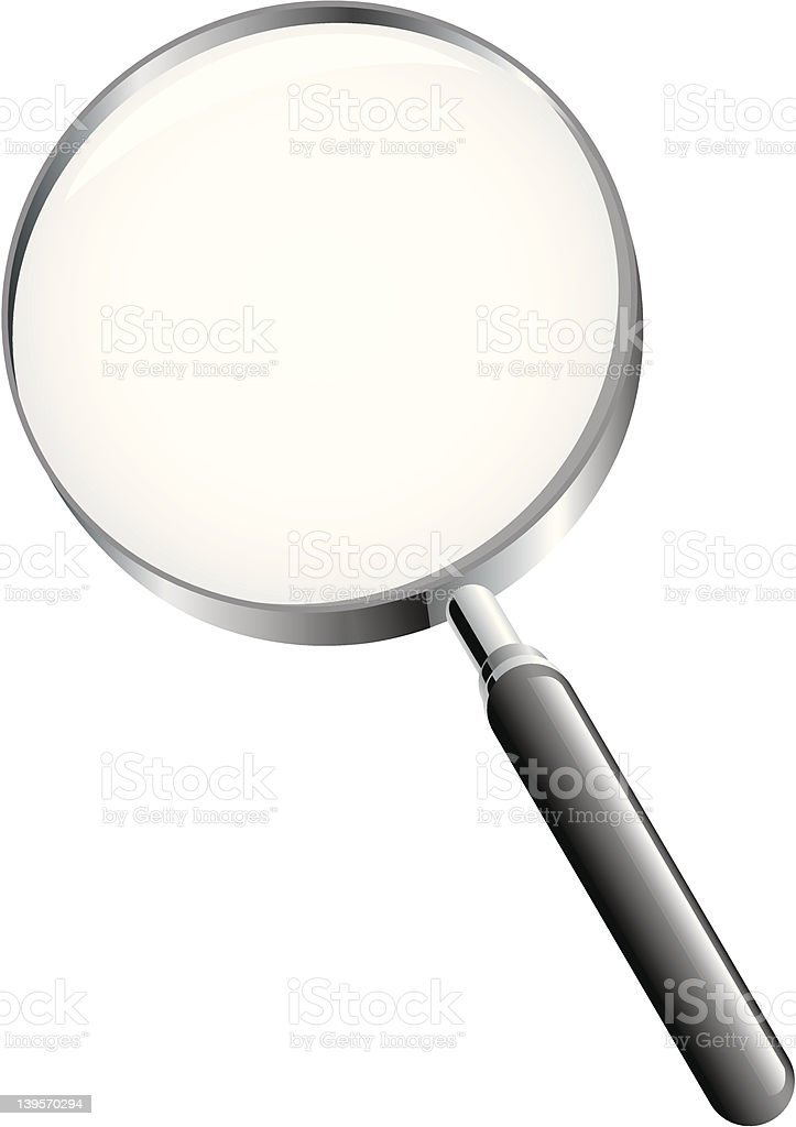 Magnifying glass search icon royalty-free stock vector art