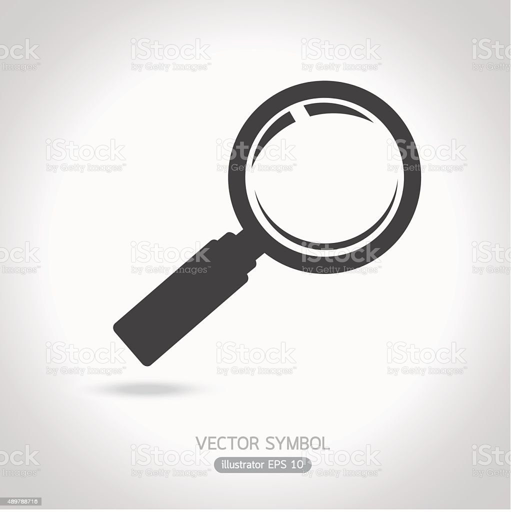 magnifying glass symbol. vector art illustration