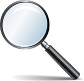 Magnifying glass to help look closer at objects