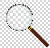 Magnifying glass illustration in vector