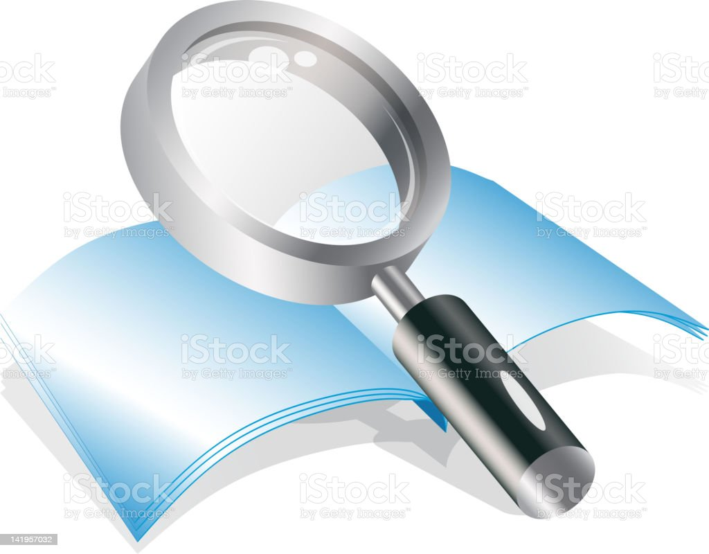 Magnifying glass royalty-free magnifying glass stock vector art & more images of blank