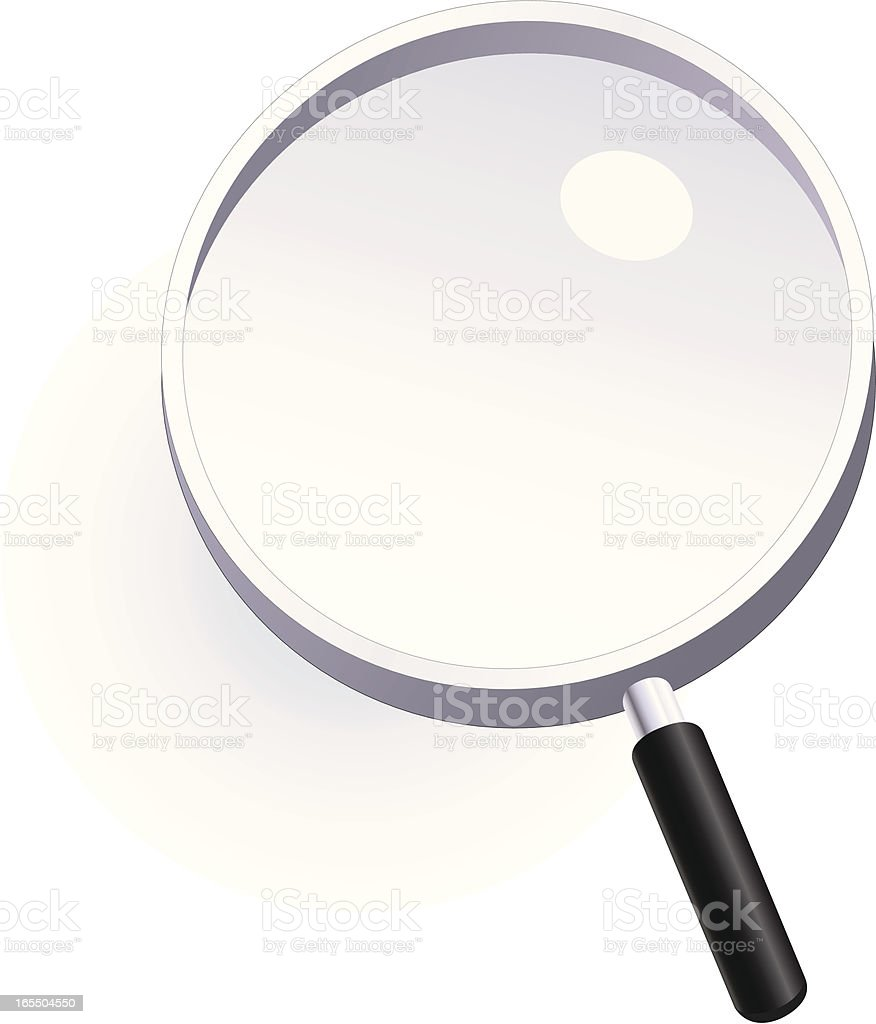 Magnifying Glass royalty-free stock vector art