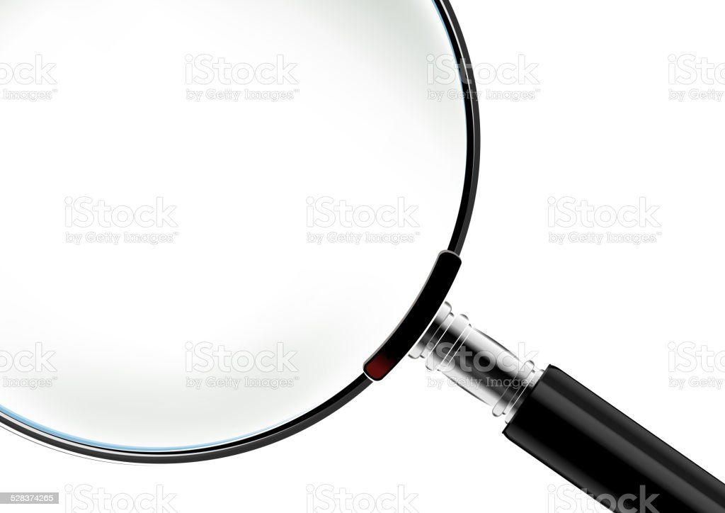 Magnifying glass vector art illustration