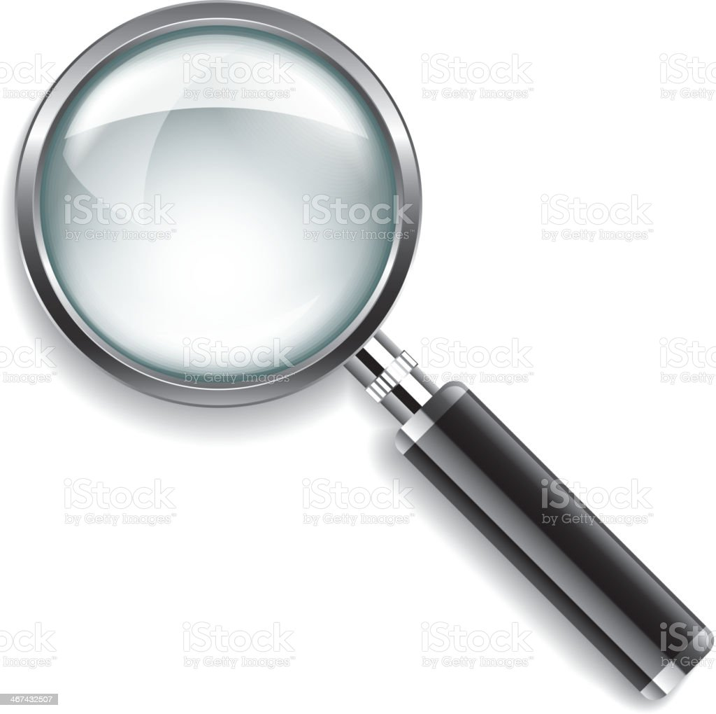 Magnifying glass vector illustration vector art illustration
