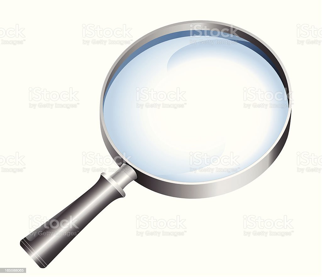 Magnifying glass - VECTOR royalty-free stock vector art
