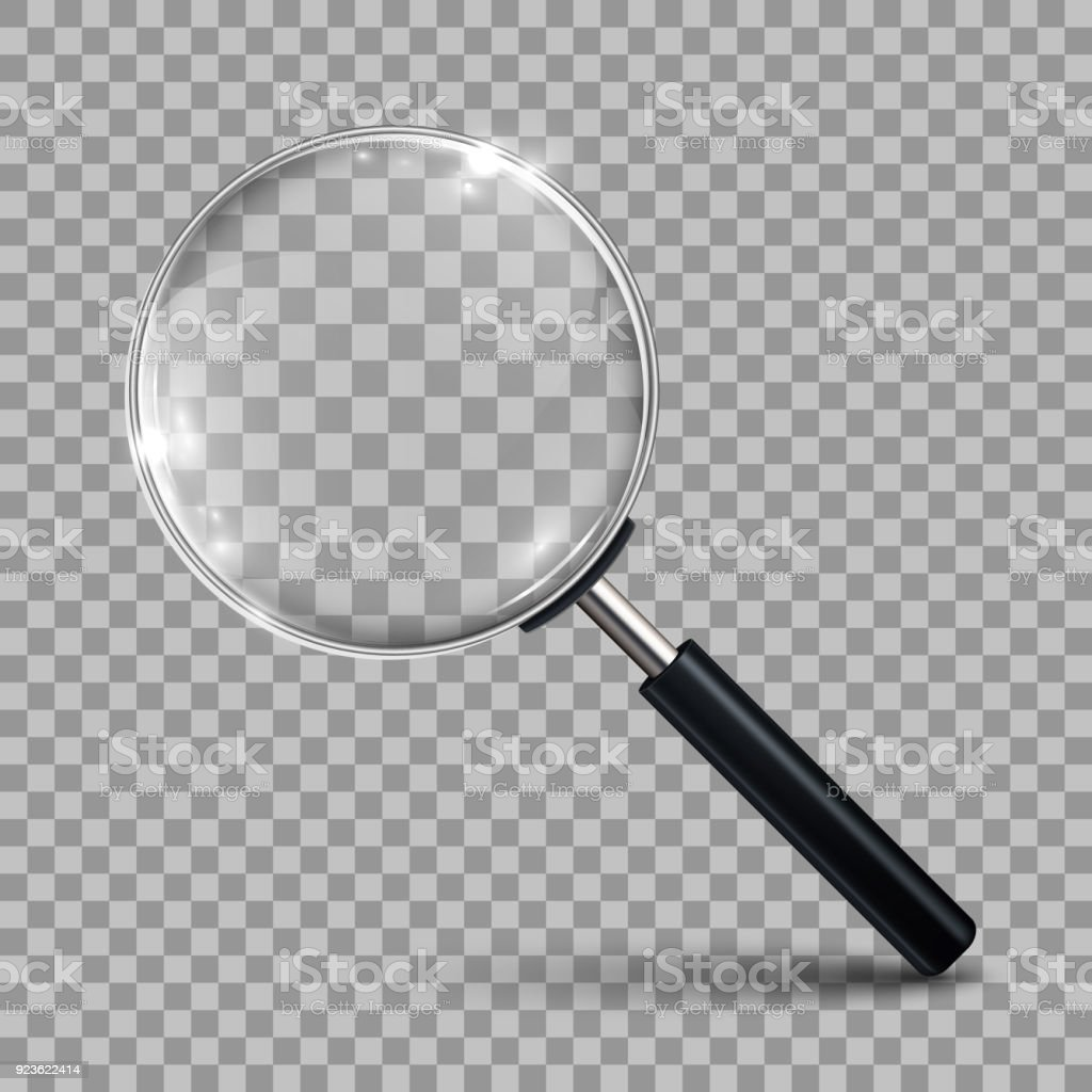 Magnifying glass – vector vector art illustration
