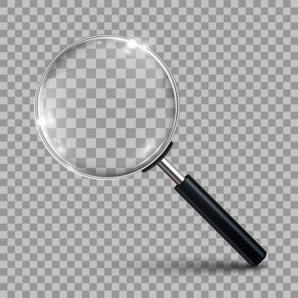 Magnifying glass – vector Magnifying glass – vector zoom effect stock illustrations