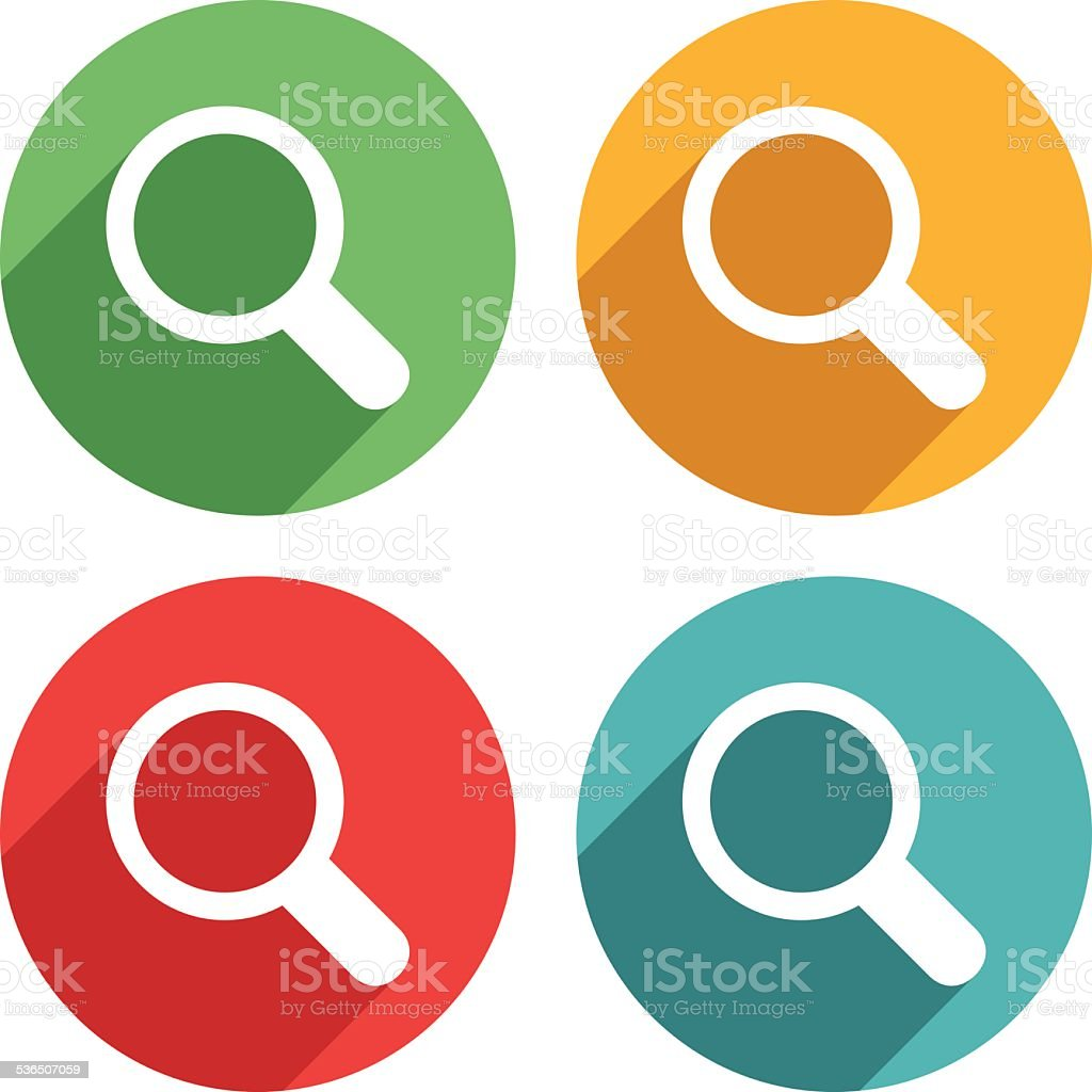 Magnifying lens Icons - VECTOR vector art illustration
