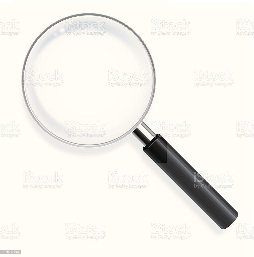 Magnifying lens vector art illustration
