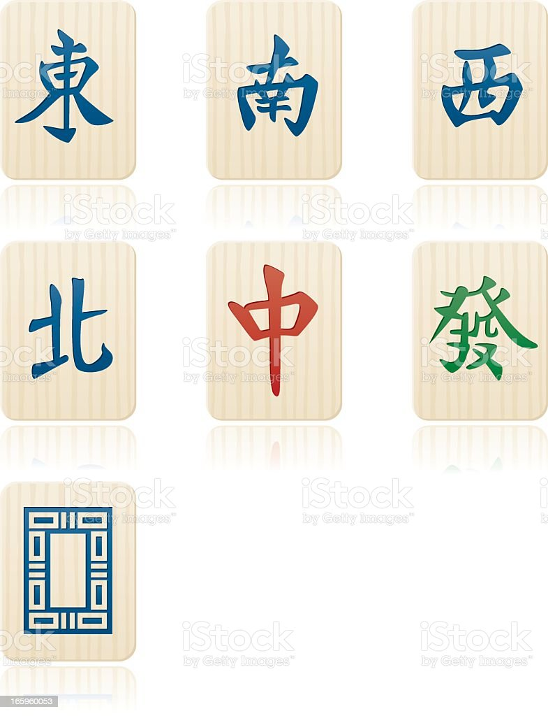 Mahjong Suits: Honor and Dragon Tiles royalty-free stock vector art