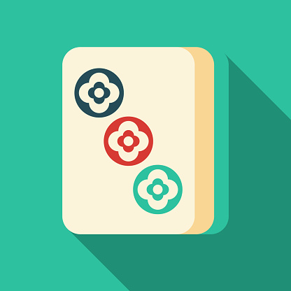 Mahjong Three Dots Tile Icon