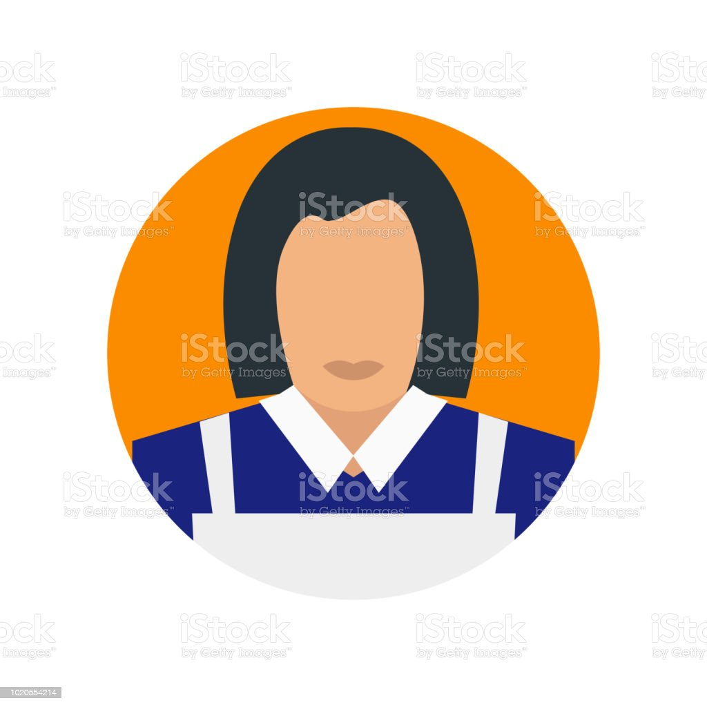 Maid icon vector isolated on white background for your web and mobile...