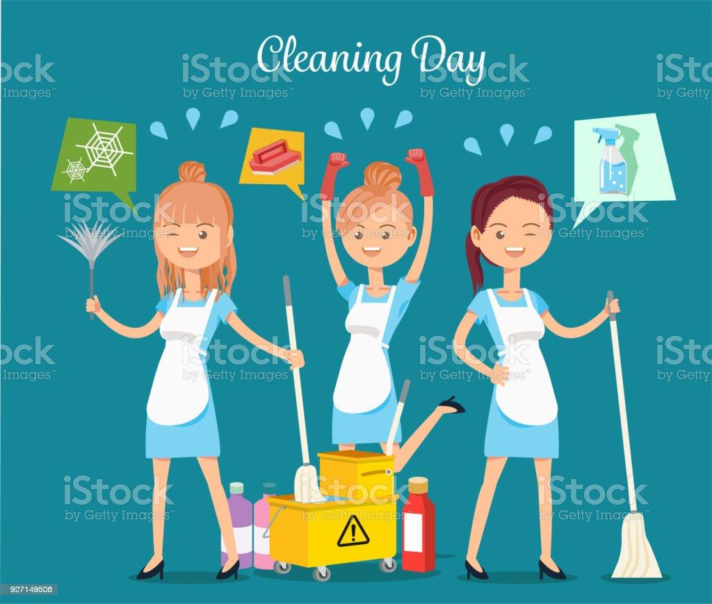Maid service.Maintaining basic hygiene.
