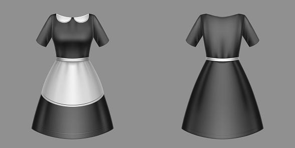 Maid uniform black housemaid dress, garment design