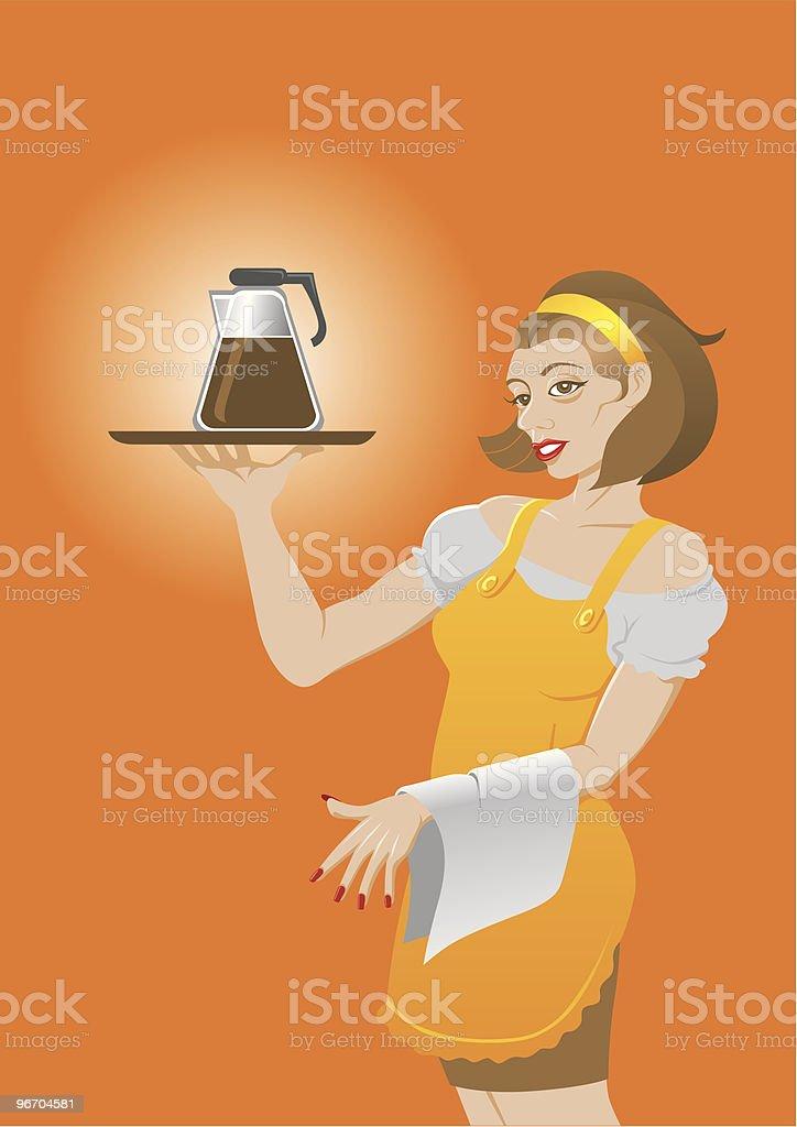Maid royalty-free stock vector art