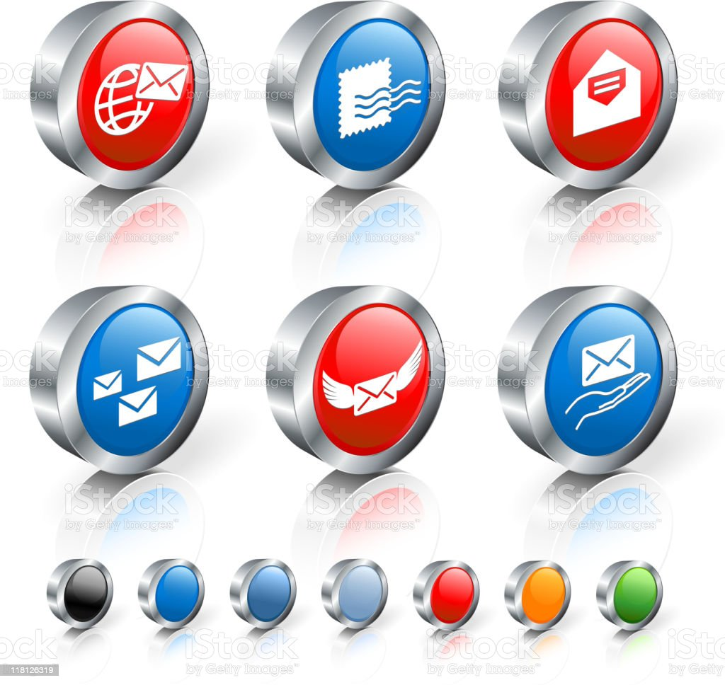 mail 3D royalty free vector icon set royalty-free stock vector art