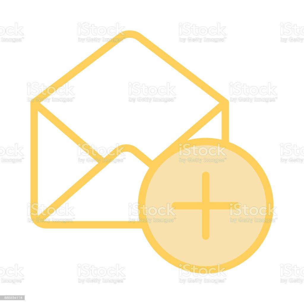mail add colour line icon