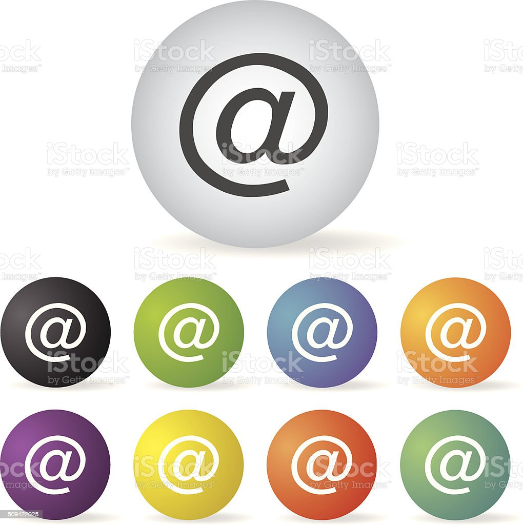 mail address icon set royalty-free mail address icon set stock vector art & more images of 'at' symbol