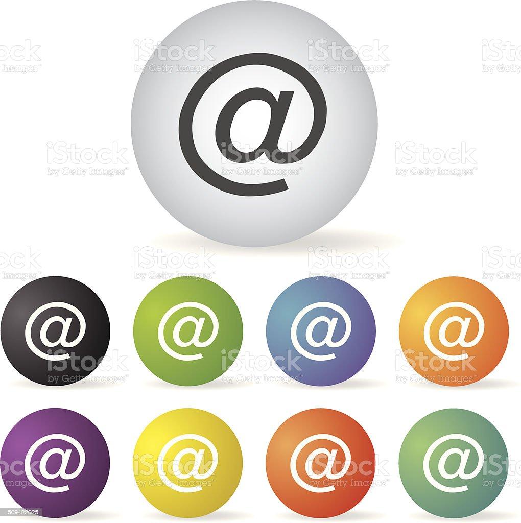 Adresse électronique icon set - Illustration vectorielle