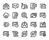 istock Mail and Messaging - Bold Line Icons 1295028578