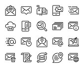 istock Mail and Messaging - Line Icons 1294256543