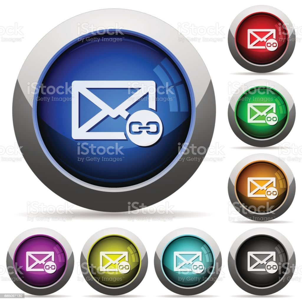 Mail attachment glossy buttons royalty-free mail attachment glossy buttons stock vector art & more images of applying