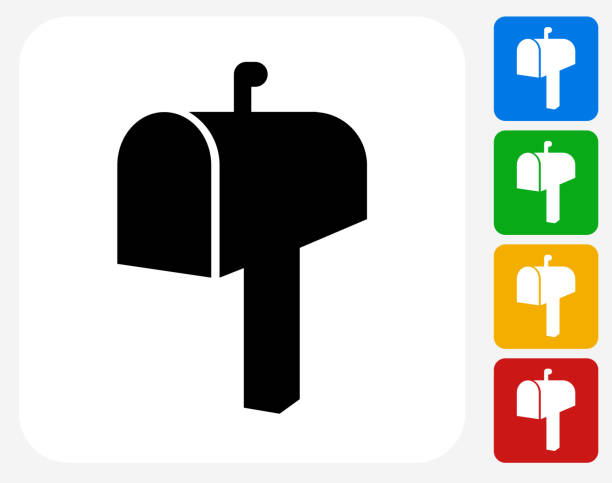 Mail-Box-Symbol flache Grafik Design – Vektorgrafik