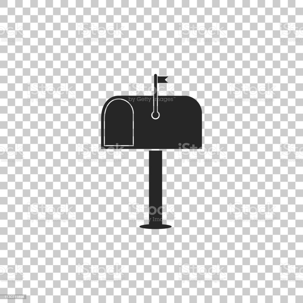 Mail box icon isolated on transparent background. Mailbox icon. Mail...