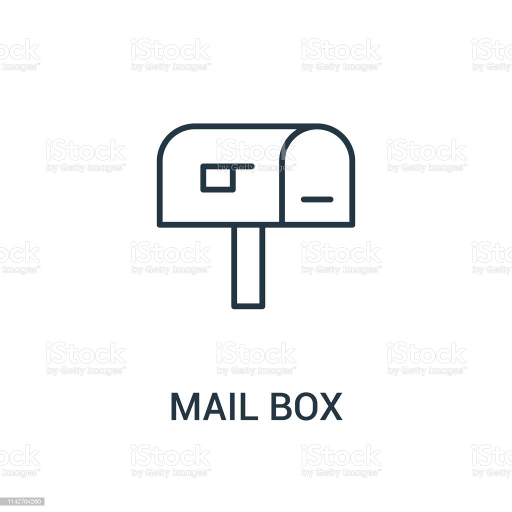 mail box icon vector from ads collection. Thin line mail box outline...