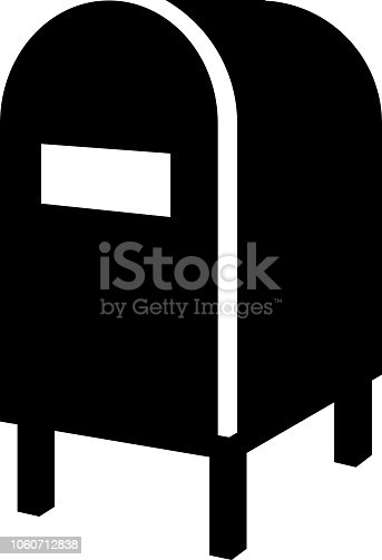 Mail Box Icon with Long Shadowon Blue Green Background with Long Shadow. There are two background color variations included in this file. The icon is rendered in white color and the background is blue or green. There is also a 45 degree long shadow.