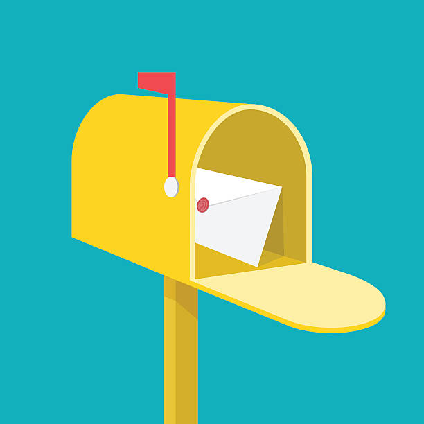 Mail box Mail box alphabet icons stock illustrations