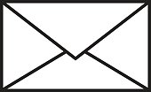 mail button isolated vector