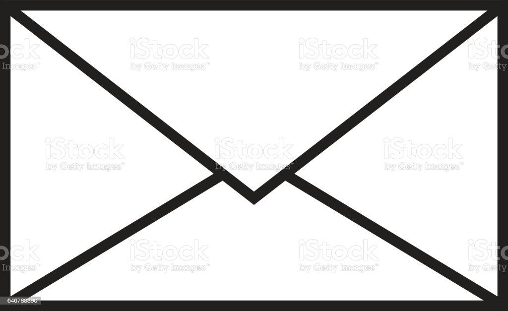 vetor de isolado botão correio - ilustração de arte em vetor