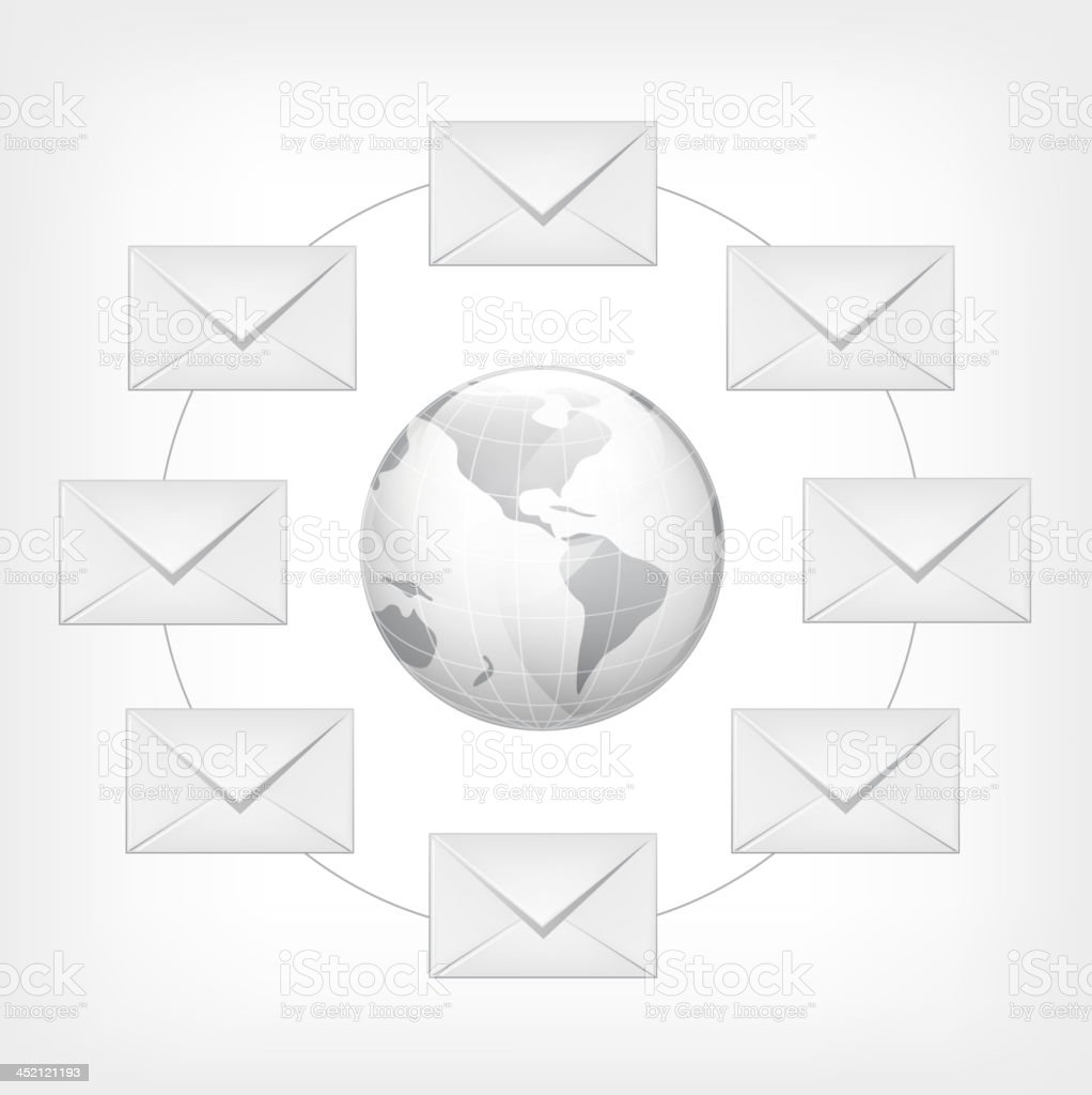 Mail Concept royalty-free stock vector art