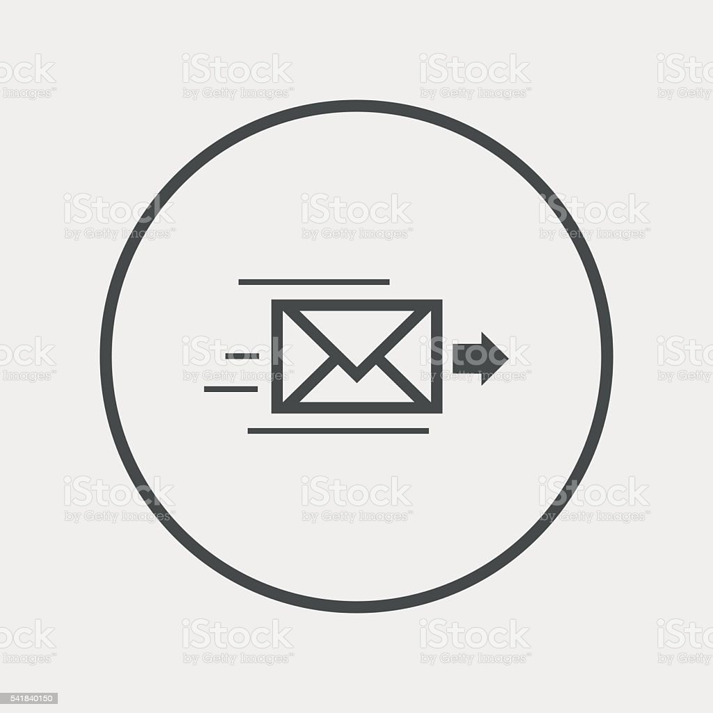 Mail delivery icon. Envelope symbol. Message vector art illustration