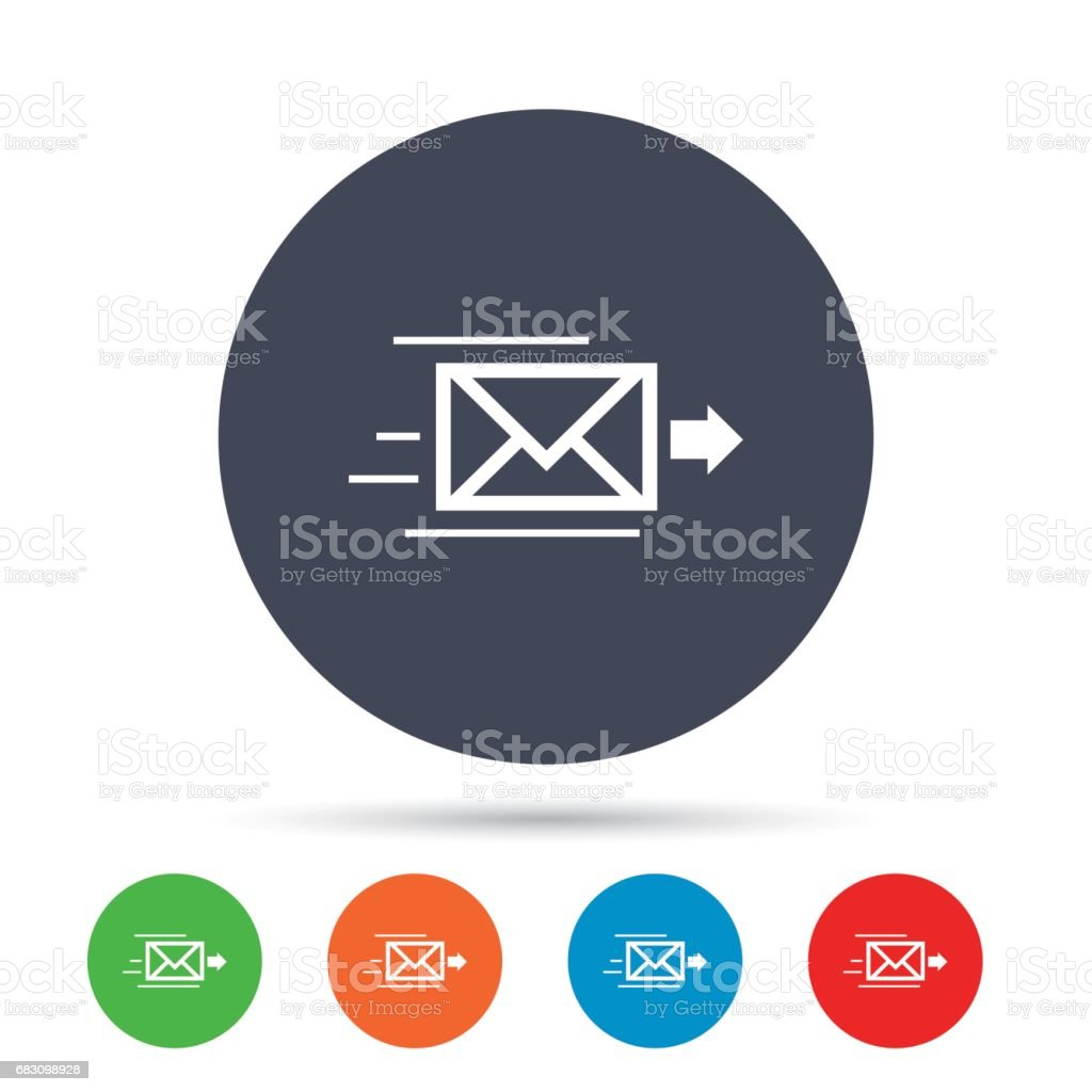 Mail delivery icon. Envelope symbol. Message. vector art illustration
