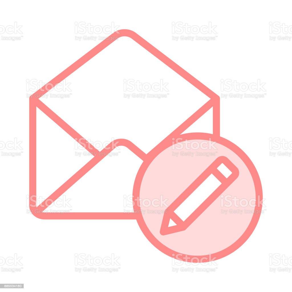 mail edit colour line icon