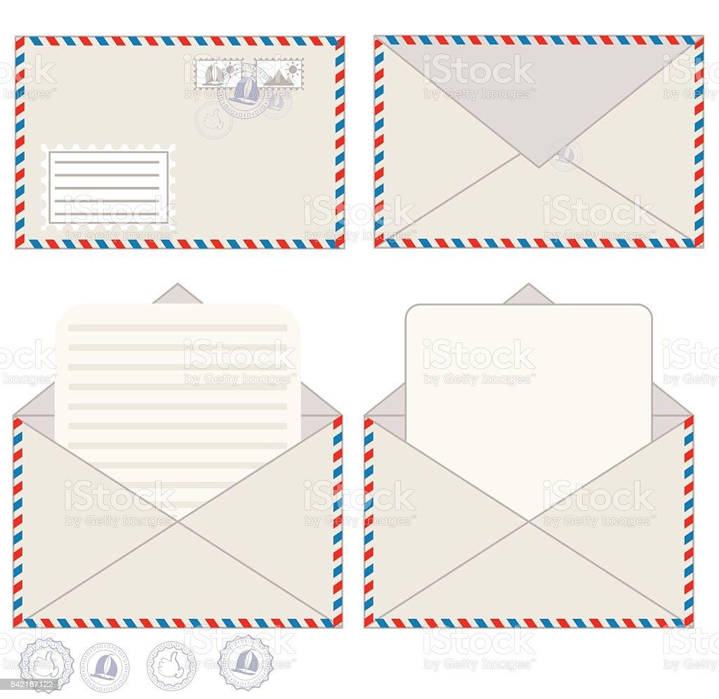 Sobre para correo postal y ilustraci n de vectores arte vectorial de stock y m s im genes de for Correo postal mas cercano
