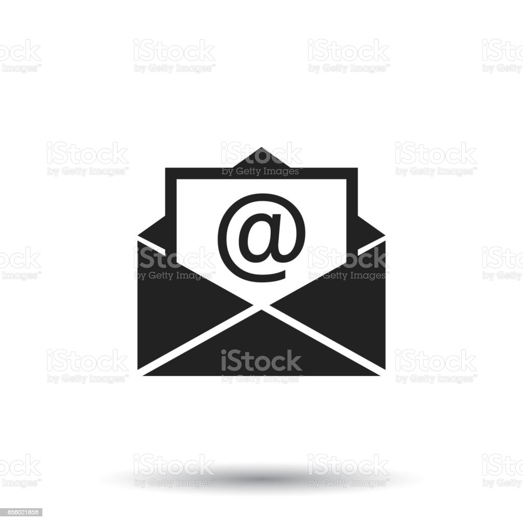 Mail envelope icon vector isolated on white background. Symbols of email flat vector illustration. vector art illustration