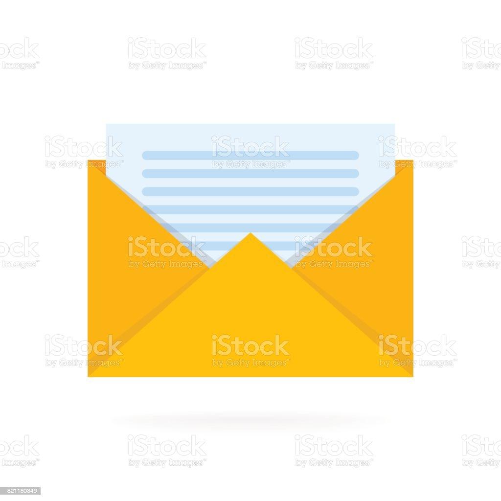 Postbriefumschlagsymbol Mit Dokumenten Email Senden ...