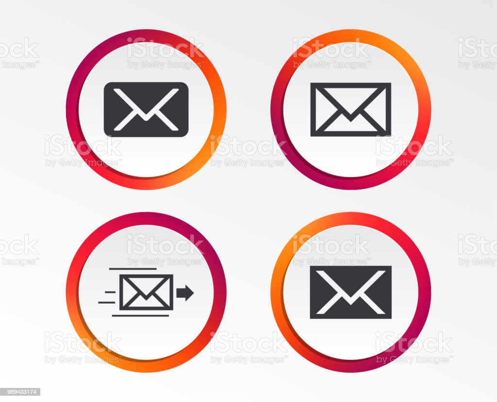 Mail Envelope Icons Message Symbols Stock Vector Art More Images