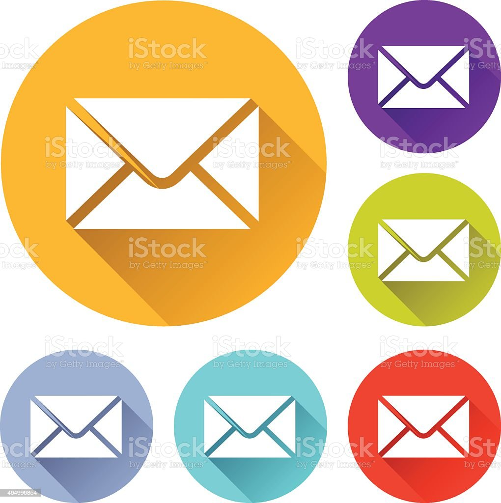 mail envelope icons vector art illustration