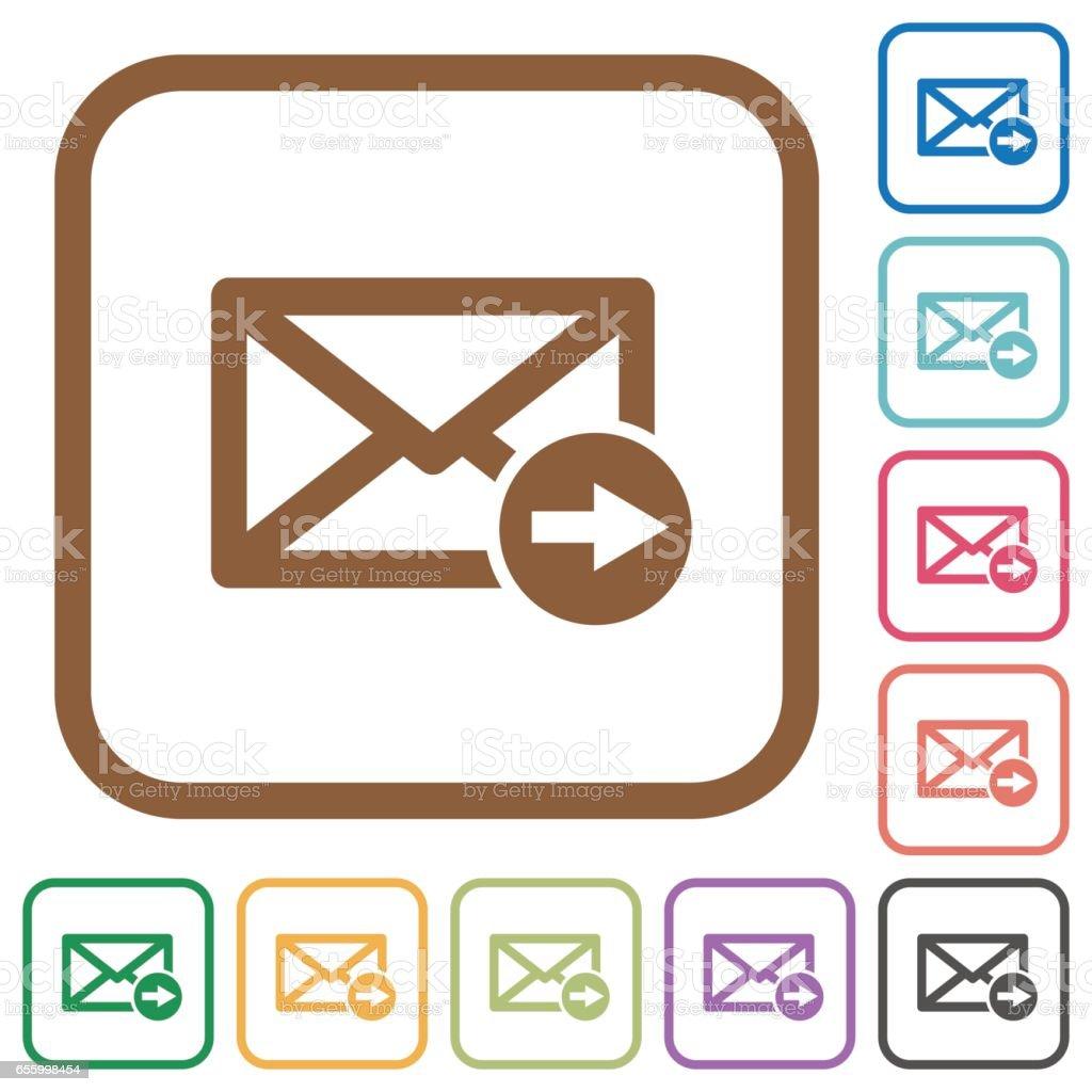 Mailweiterleitung Einfache Symbole Stock Vektor Art und mehr Bilder ...