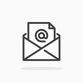 istock Mail icon in line style. 1206917119