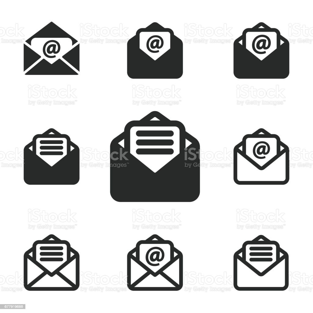 Mail icon set. royalty-free mail icon set stock vector art & more images of communication