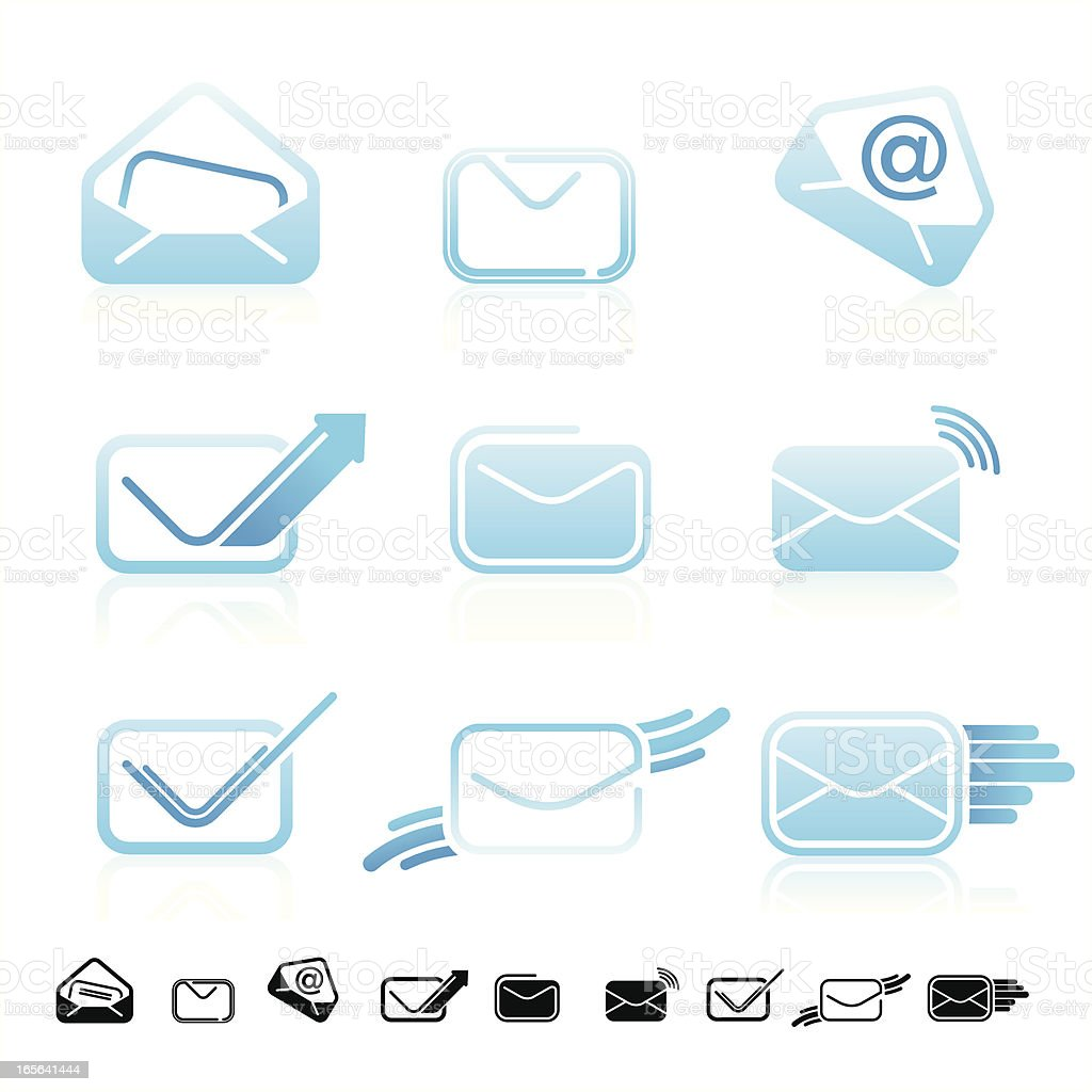 Mail icons set royalty-free mail icons set stock vector art & more images of arrow symbol