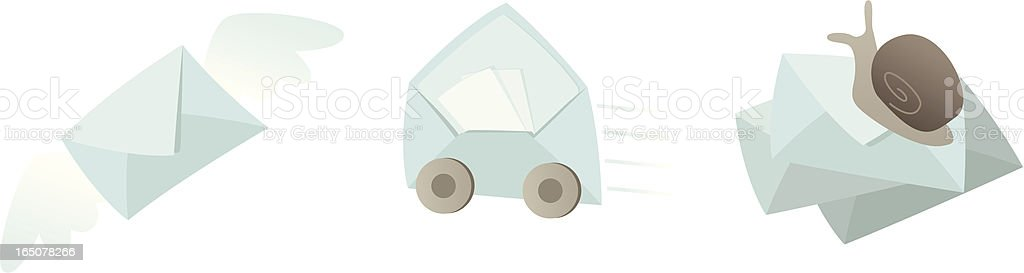 Mail Icons - Speed royalty-free mail icons speed stock vector art & more images of air mail