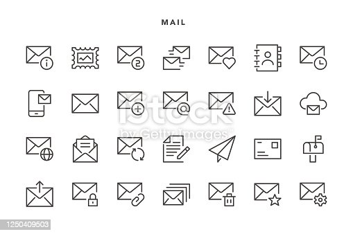 Mail Icons - Vector EPS 10 File, Pixel Perfect 28 Icons.