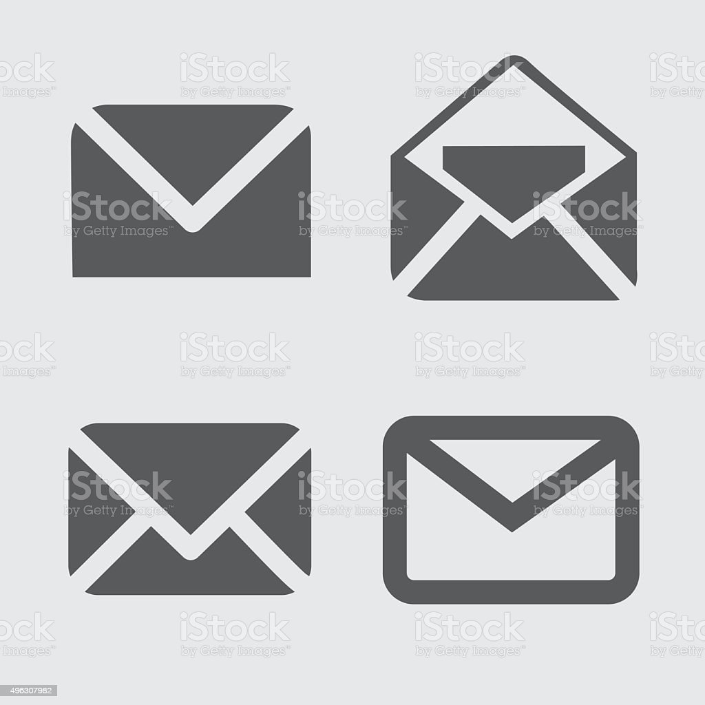 Mail Icons vector art illustration
